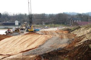 Maury County I-Beam Bridge construction