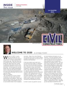 Civil Constructors Newsletter 2020 Q1
